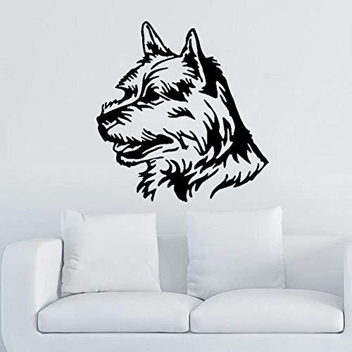 WandaufkleberLustige Hund Gesicht Pvc Hohe Qualität Wandaufkleber Kunst Home Room Aufkleber 53,1 Cm * 55 Cm