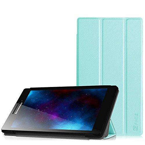 Fintie Lenovo Tab 2 A7-10 Hülle Case - Ultra-schlank Superleicht Ständer SlimShell Cover Schutzhülle Etui Tasche für Lenovo Tab 2 A7-10 17,8 cm (7 Zoll IPS) Tablet, Blau