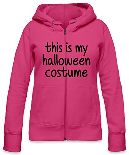 This Is My Halloween Costume Slogan Womens Zipper Hoodie Small