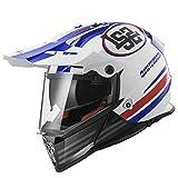 Mdsfe Casco Motocross originale, protezione solare, protezione UV, casco Pioneer Motocross con pad rimovibile, pad rimovibile - rosso e blu X XL
