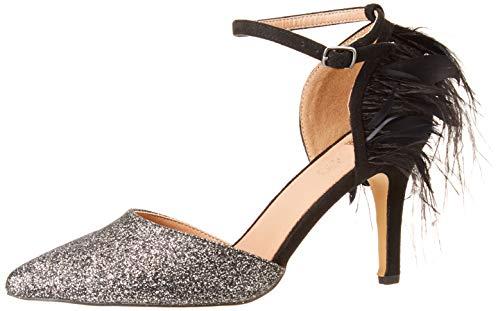 EFERRI Lycos, Zapato de tacón para Mujer, Negro