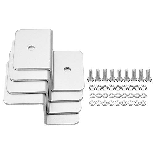 GIlH 4pcs ZB-04 Solar Panel Mounting Z Brackets Aluminum Alloy Tools Kit for Motorhomes and Yachts -