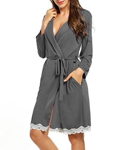 Mujer Camisón Encaje Batas Kimono Algodón Pijama
