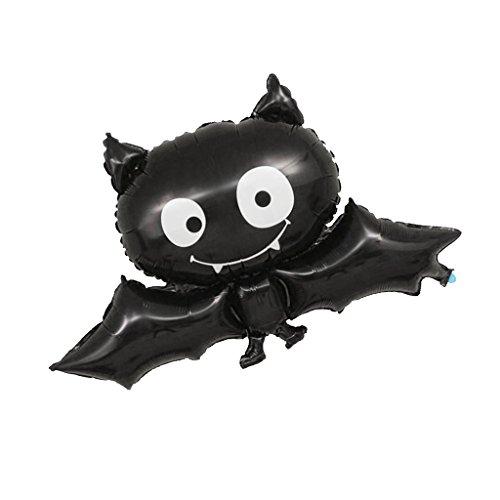 Sharplace Halloween Schwarz Fledermaus Form Heliumballon Tierballon Kinder Geschenk für Kindergeburtstag Haus Party Deko (Halloween Formen Schwarze)