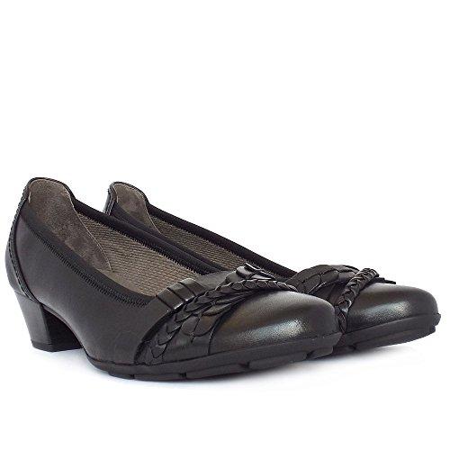Gabor Tyne Smart Casual Tacco Basso Scarpe Da Donna In Nero Black