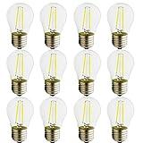 E27 LED Neue Produkte G45,2 W Lampe, vergleiche 15 W Glühlampe,180 Lumen,AC 220 V, CooleWeiß G45,Glühbirne Kristallklares Glas,12 Stück