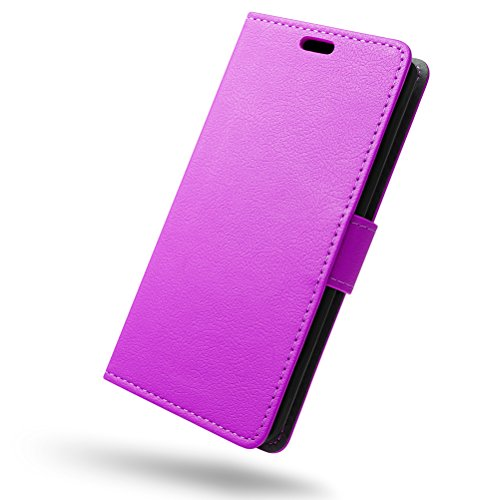 SLEO Huawei Honor 6X/Huawei Honor 6 Plus Hülle, PU Leder Case Tasche Schutzhülle Flip Case Wallet im Bookstyle für Huawei Honor 6X/Huawei Honor 6 Plus Cover - Lila