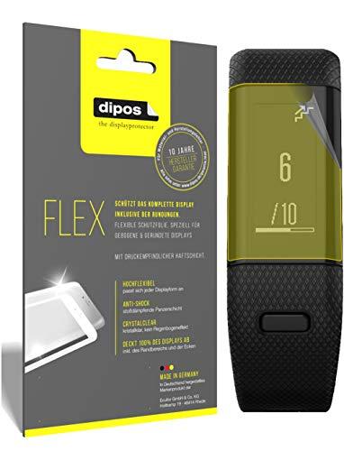 dipos I 3X Schutzfolie 100prozent passend für Garmin vivosmart HR Plus Folie I 3D Full Cover Bildschirmschutzfolie