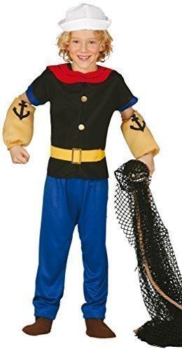 Jungen 5 Stück Starker Matrose Halloween 1960s Jahre CARTOON Kostüm Kleid Outfit 5-12 Jahre - Multi, Multi, 10-12 Years (Matrose Halloween Hut)