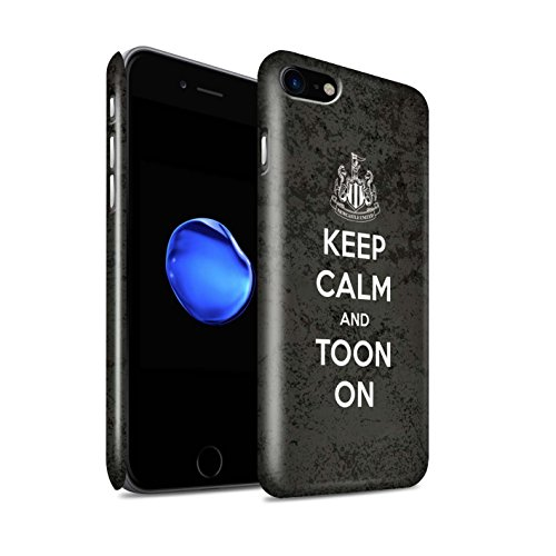 Offiziell Newcastle United FC Hülle / Glanz Snap-On Case für Apple iPhone 7 / Unterstützung Muster / NUFC Keep Calm Kollektion Toon On