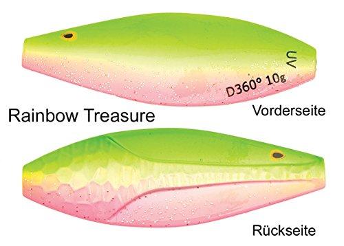Westin D360° Meerforellenblinker, Meerforellenköder, Mefo, Köder für Meerforelle, Mefoköder, Blinker, Durchlaufblinker, Küstenblinker, Länge / Gewicht:4cm / 6g;Farbe:Rainbow Treasure