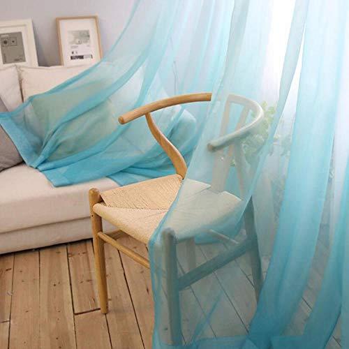 PENVEAT Vorhänge Farbverlauf Voile grau Fenster Moderne Wohnzimmer Vorhänge Tüll Schiere Stoffe Rideaux Cortina T & 185# 30, Tüll 04, W350CM X H265CM, Pull Plissee Tape