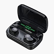 True Wireless Earbuds, In-Ear Headphones with Mic Bluetooth 5.1, Touch Control TWS Earphones Stereo Sound Call