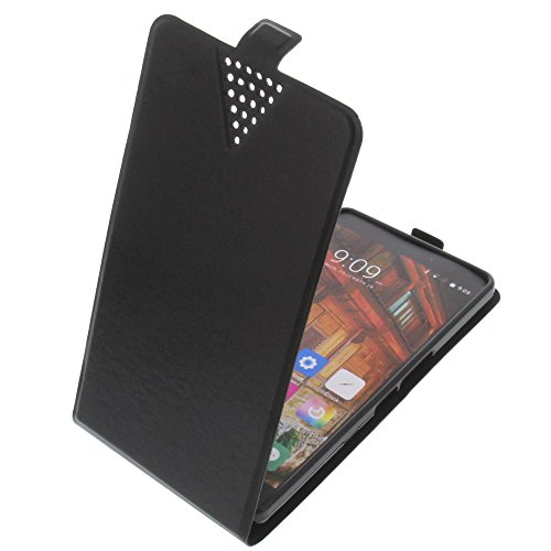 foto-kontor Tasche für Elephone P9000 Lite Flip Style Ultra-dünn Schutz Hülle Schwarz