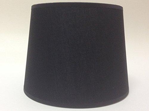 20,3 cm Empire Noir Tissu de coton Abat-jour lumière Abat-jour Table fait à la main.