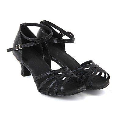 Scarpe da ballo-Personalizzabile-Da donna-Balli latino-americani-Tacco su misura-Finta pelle-Nero / Blu / Rosso / Argento / Dorato Blue