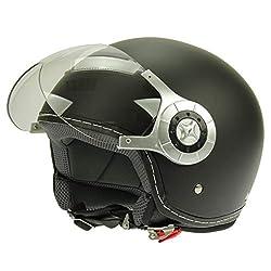 Mach1 Jethelm Helm Motorradhelm mit Integrierter Sonnenblende ECE R 22.05 Gr/ö/ße XS bis XXL