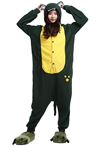 Pyjama Tier Cosplay Grüner Alligator Cartoonstil Animal Kigurumi Plüsch für Erwachsene ()