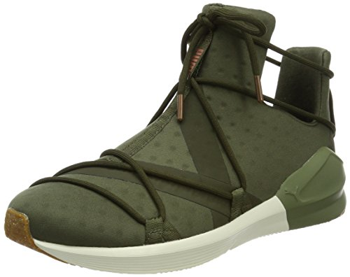 PUMA Fierce Rope VR, Scarpe Sportive Indoor Donna, Verde (Olive Night-Whisper White), 40.5 EU