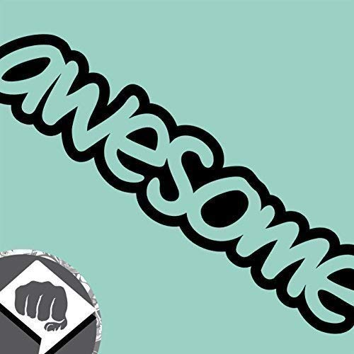 Awesome Aufkleber (DBSPNCR AWESOME - Sticker bombed bomb Aufkleber Decal OEM DUB NEU (außenklebend, weiß))