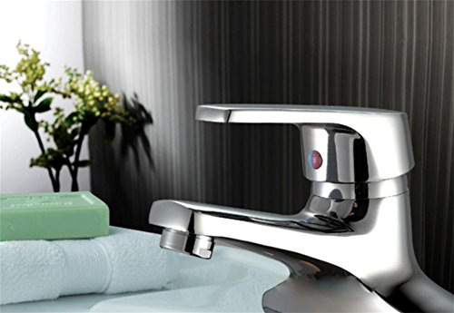 pengweiKupfer waschen Waschbecken Wasserhahn warmes und kaltes Wasser mischen Ventil Doppelwaschtisch Triple-Doppel-Loch-Waschtisch Wasserhahn