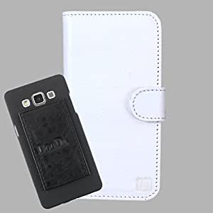 DooDa Genuine Leather Wallet Flip Case Cover With Card & ID Slots For Karbonn A60 - Back Cover Not Included Peel And Paste