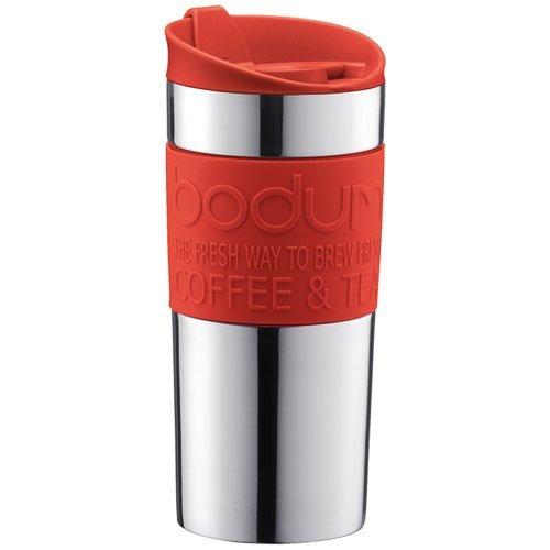 Bodum 11068-01, Travel Mug, Mug da viaggio, small, 0,35 L, colore: Rosso