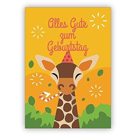 Lustige Geburtstagskarte mit Giraffe und Partyhut: Alles Gute zum Geburtstag (Weihnachten Nachrichten Für Den Chef)