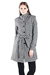 Owncraft Black White Wool Coat