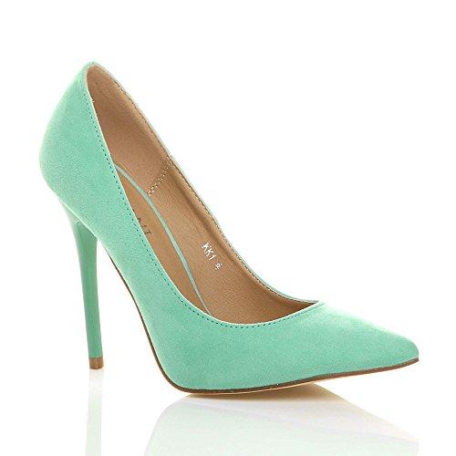 Ajvani donna tacco alto lavoro festa elegante scarpe décolleté a punta numero 5 38