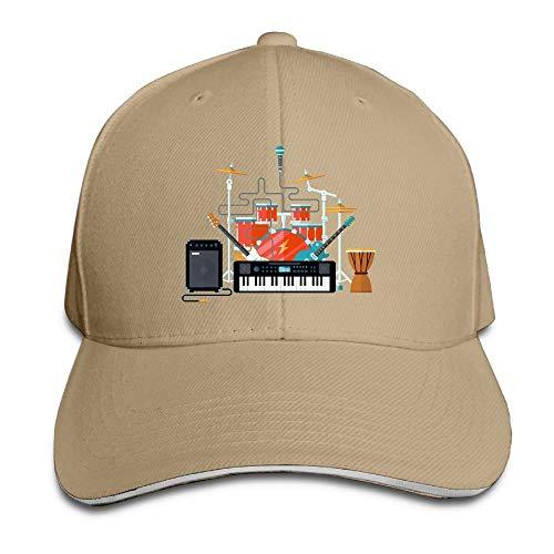Medlin Unisex Sandwich Peaked Cap Creative Travel Box Art Adjustable Cotton Baseball Caps Hats Top Single Surface Box
