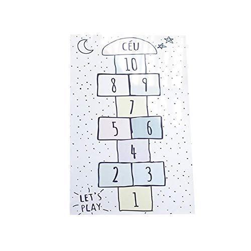 Sommer\'s Laden Baby Spielmatte Krabbelmatte Spieldecke, 80×160CM Faltbarer Krabbelmatte Ungiftig rutschfest Tragbar Für Innen-oder Außenbereich Für Kleinkind Bunt