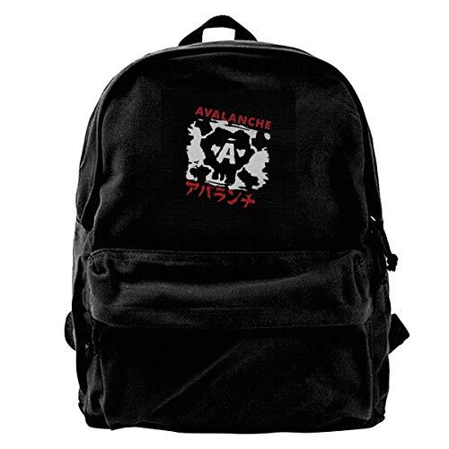 YANNAN Canvas Backpack Avalanche Graffiti Final Fantasy VII Rucksack Gym Hiking Laptop Shoulder Bag Daypack for Men Women Womens Graffiti Mesh