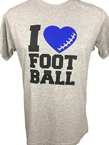 31d94fd18 J'aime Football T-Shirt Gris Hommes De Football De Sport Packers Patriots  Seahawks