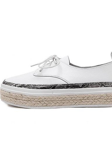 ZQ hug Scarpe Donna - Scarpe da barca - Tempo libero - Comoda - Piatto - Finta pelle - Nero / Bianco , white-us8 / eu39 / uk6 / cn39 , white-us8 / eu39 / uk6 / cn39 black-us7.5 / eu38 / uk5.5 / cn38