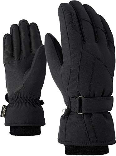 Ziener Damen KARMA GTX Gore plus warm lady glove Ski-handschuhe / Wintersport | wasserdicht, atmungsaktiv, sehr warm, schwarz (black), 7.5