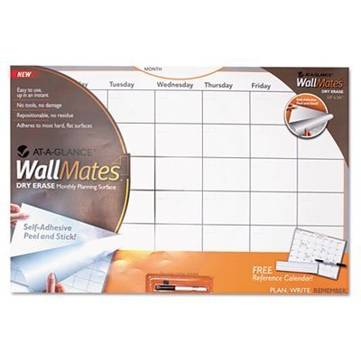 AT-A-GLANCE Undated WallMates Self-Adhesive Dry Erase Writing Monthly Planning Surface, 36 x 24 x .75 Inches (AW6020-28) by ACCO Brands (English Manual)