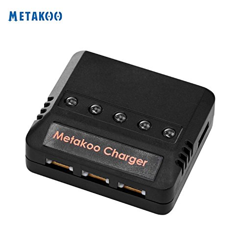 Metakoo 5 in 1 Battery Charger for Quadcotpers Max 2.5A 3.7V Rigged Clamorous Charger for Metakoo Quadcopters Syma Drones X5C UDI 818A Hubsan X4 and More