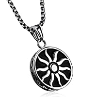 Vintage Stainless Steel Necklace with Retro Pendant for Men