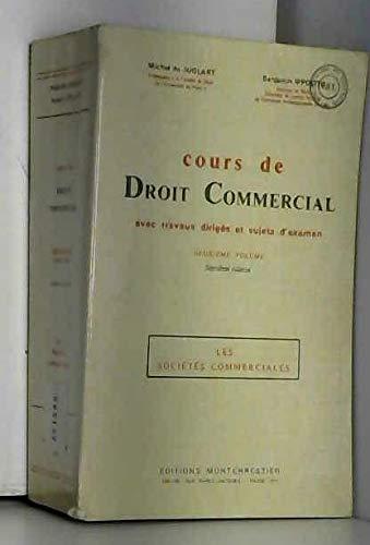 Cours de droit commercial/les societes commerciales