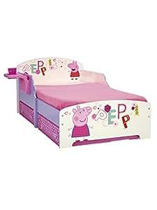 Peppa Pig 864927 Lit avec Rangements Bois Mauve 145 x 77 x 59 cm