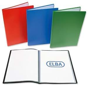 Memphis Elba affichage polypropylène Couverture de livre Soft 40 poches A4 Ref Blue M32048003 [Pack 10]
