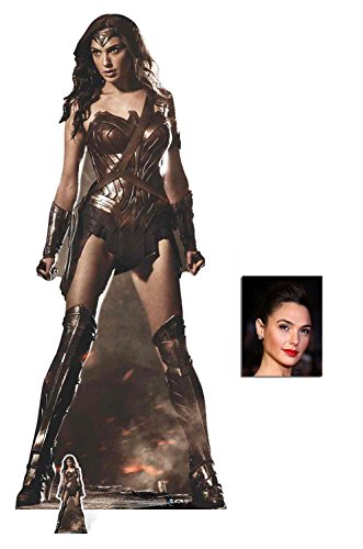 Fan Pack - Wonder Woman (Gal Gadot) Lebensgrosse und klein Pappaufsteller - mit 25cm x 20cm foto (Woman-party Dekorationen Wonder)