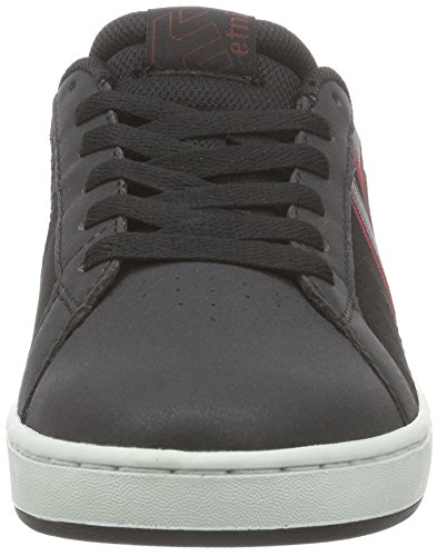 Etnies Fader Ls, Sneakers Basses Homme Noir (Black Charcoal Red 557)
