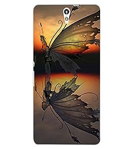 ColourCraft Creative Butterfly Design Back Case Cover for SONY XPERIA C5 E5553 / E5506