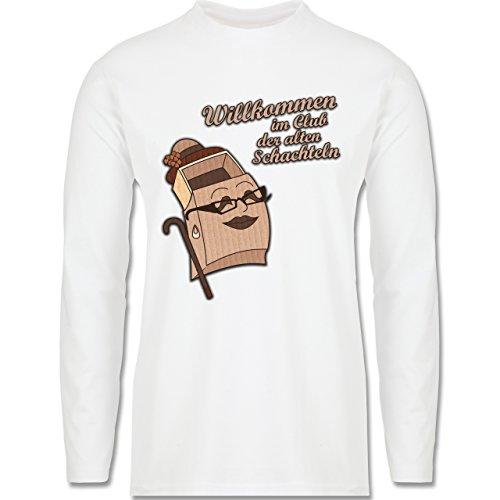 Geburtstag - Willkommen im Club der alten Schachteln - Longsleeve / langärmeliges T-Shirt für Herren Weiß