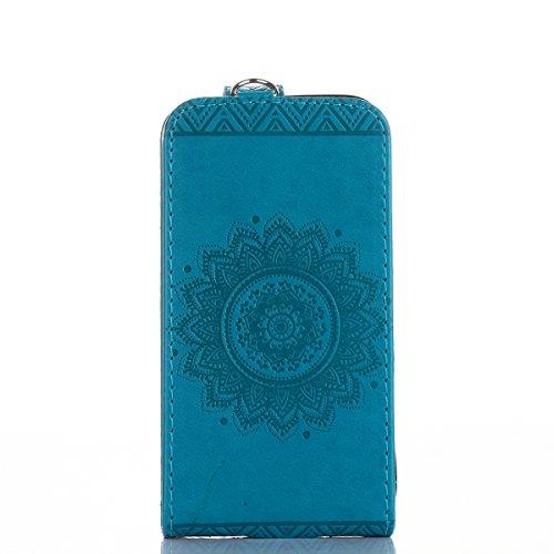 Custodia per iphone 6S plus Portafoglio, iphone 6 plus Cover a libro, MoreChioce Lusso Bookstyle Rigida Vintage Flip PU Pelle Leather Cover Ragazza Ragazzo Moda (Su e giù per aprire e chiudere Design) B-Blue