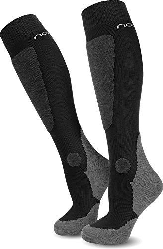 2 Paar normani® Allround Skisocken Ski-Kniestrümpfe, speziell gepolstert Farbe New-Style/Black Größe 43/46