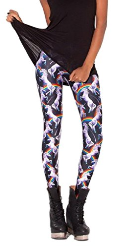 Unicorns and Rainbows Stretch Leggings for Women - large 60-86cm waist