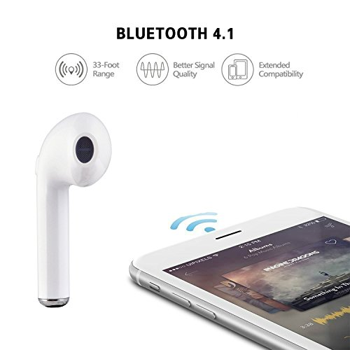 Apple iPhone 7 Plus 32 gb compatible i7 in-ear wireless bluetooth music earphone with calling function support handsfree call specially designed for iOS devices ultralight headset stereo earbuds branded headphones tangle-free earphones earpiece best sound clarity noise cancellation feature sweat proof look elegant design new edge technology supports all android mobile and ios smartphones tablets black color by casvo